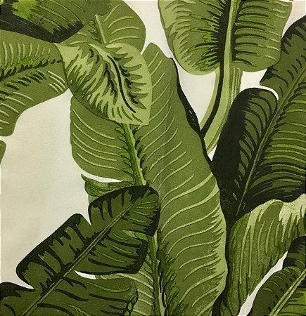 Acrilico - Folha de Bananeira Verde