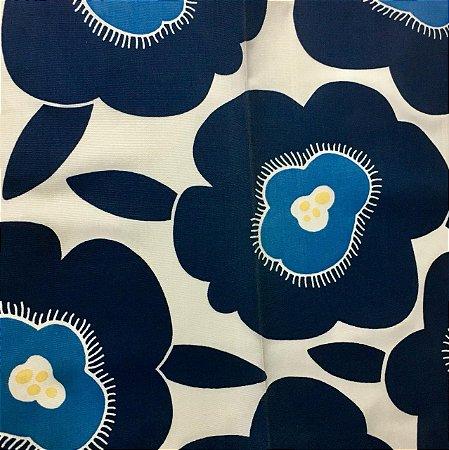 Acrilico - Azul Cru Floral