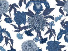 Linho Florata - Floral Azul 092745