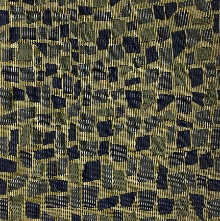 Jacquard Nic - Calçada de Pedra - Azul/Amarelo - 1,40m de largura