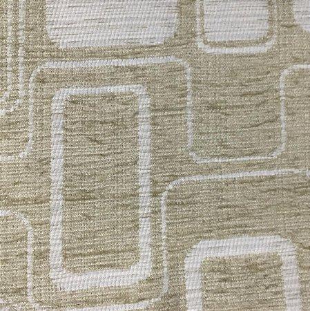 Tecido Futon Carrara - Geometrico Cru