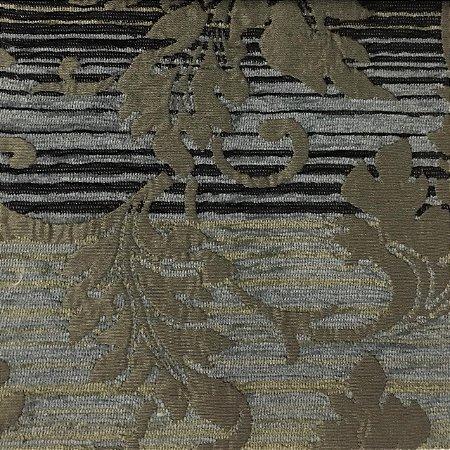 Tecido Futon Sabah Multicolor - Preto/Azul