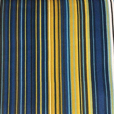 Camurça Veloa Digital 700531 - Listrado Azul/Amarelo
