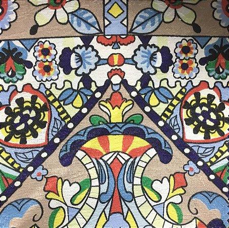 Tecido Estampado Verona - Holi Safira