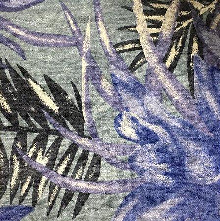 Tecido Estampado Parise - Amazônia Azul Marinho