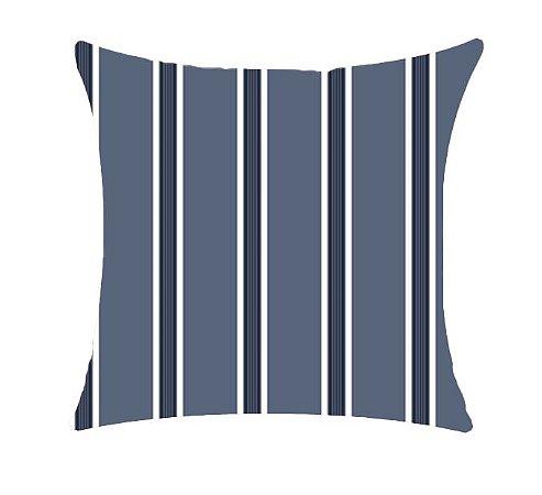 Almofada com Enchimento 50X50 - Garden Trancoso Listrado Azul