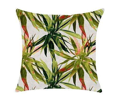 Almofada com Enchimento - Garden Linho 50X50 - Ramado Verde