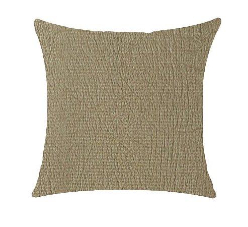 Almofada com Enchimento Veludo Stone - Areia - 50X50