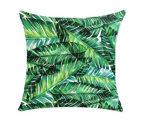 Almofada com Enchimento Soleil Digital 50X50 - Floral Verde