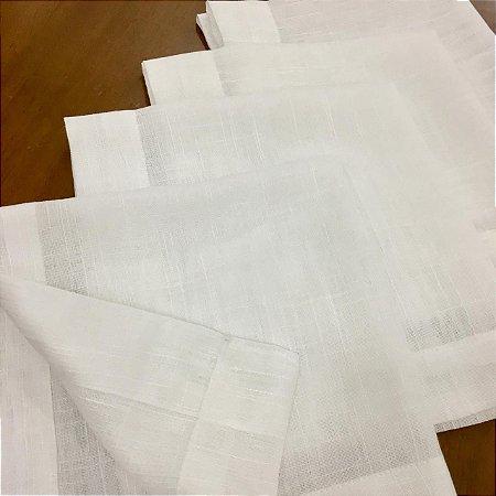 Kit 10 Guardanapos de Tecido La Casa - Linho Branco - 45X45