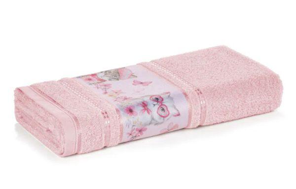 Toalha de Banho Infantil Fio Cardado Karsten - Missi Rosé