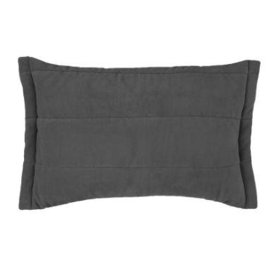 Porta Travesseiro Blend Malha 50cm x 70cm Funghi - Cinza - Altenburg