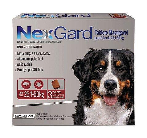Antipulgas e Carrapatos NexGard para Cães de 25,1 A 50kg 3 comprimidos