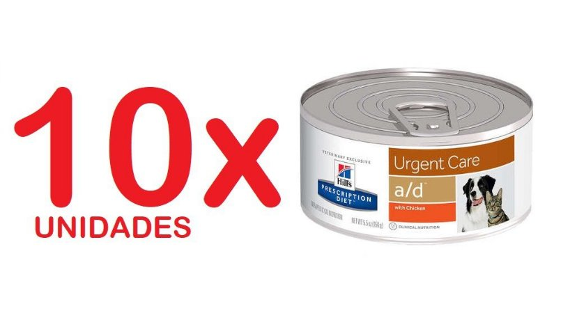 Ração A/D Hills Diet Para Cachorro E Gatos - 156g Kit com 10 unidades
