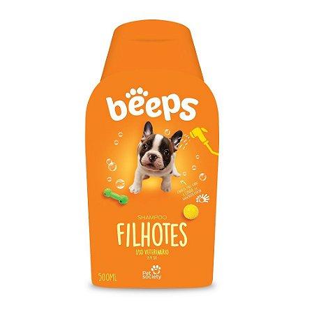 Shampoo Pet Society Cães e Gatos Linha Beeps Filhotes