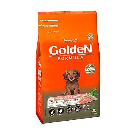 Ração Golden Fórmula Mini Bits para Cães Filhotes de Pequeno Porte Sabor Frango e Arroz