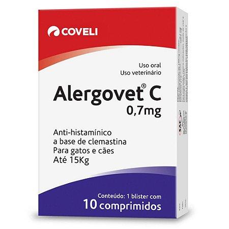 Alergovet Coveli para Cães e Gatos Até 15kg 10 Comprimidos