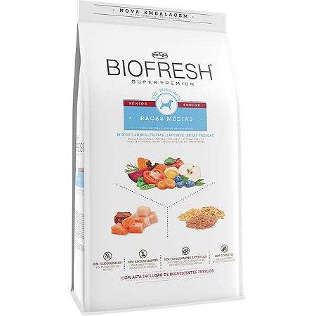 Ração Seca Biofresh Mix de Carne, Frutas, Legumes e Ervas Frescas Cães Sênior de Raças Médias 3kg