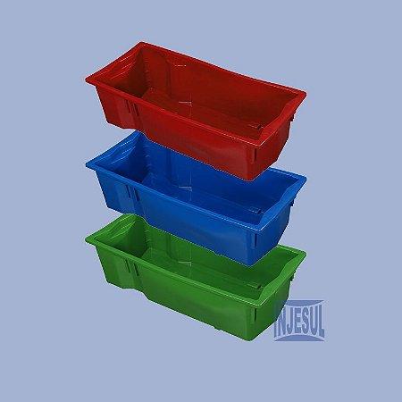 Caixa Para Transporte De Leite Cores Variadas - Reciclado