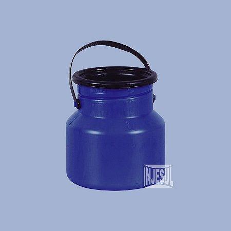 Vasilhame para Transporte de Leite 03 litros Azul