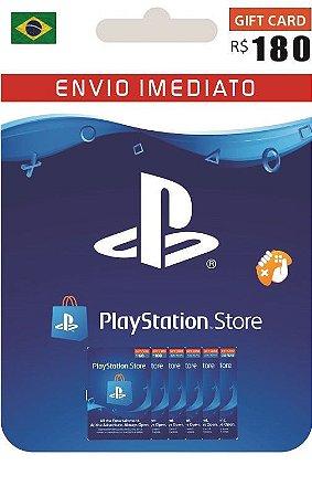 Cartão PSN R$ 180 Reais Playstation Network Brasil