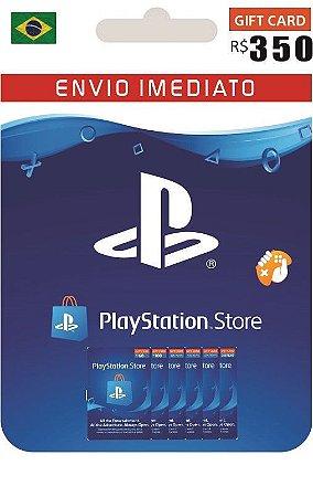 Cartão PSN R$ 350 Reais Playstation Network Brasil