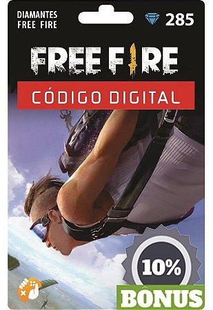 Free Fire: 285 Diamantes + Bônus [Recarga]