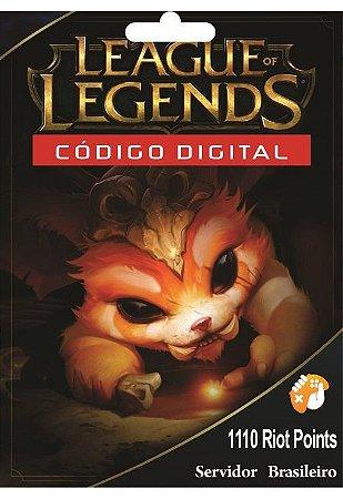 Cartão League of Legends 1100 Riot Points
