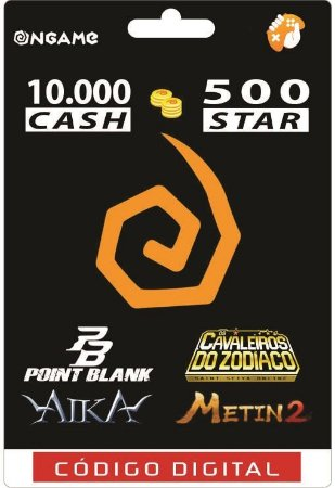 OnGame: 10.000 Cash / 500 Star: Point Blank, AIKA, Metin 2 e CDZ