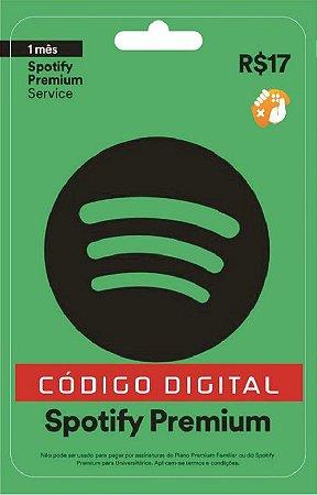 Spotify Premium - Cartão-Presente: 1 Mês