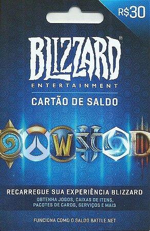 Cartão Blizzard Battle.Net R$ 30 Reais