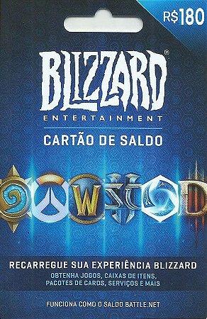Cartão Blizzard Battle.Net R$ 180 Reais