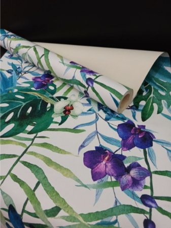 Papel de Parede Floral Lavável Colorido