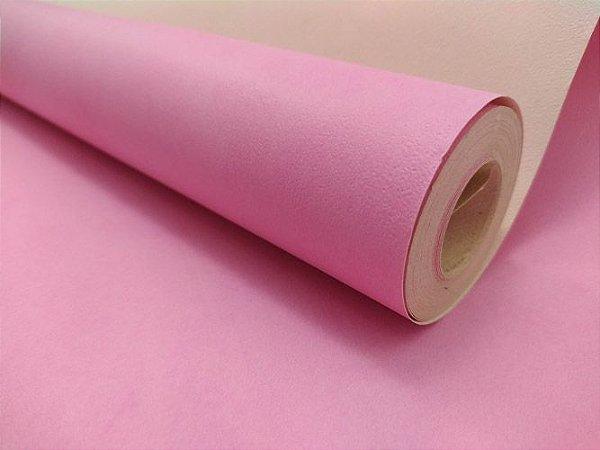 Papel de Parede Liso Rosa Pink 10 Metros