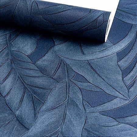 Papel de Parede Floral Azul, Vinilico