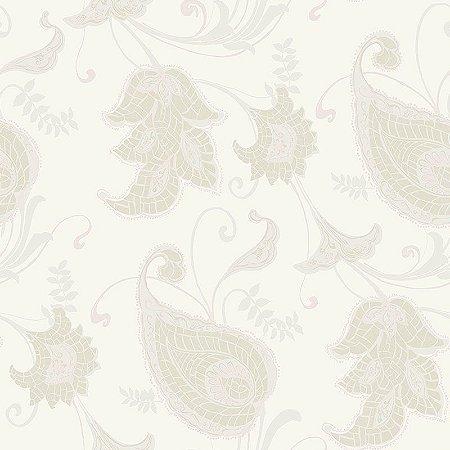 Papel de Parede Vinílico - EPP III - Floral - off white