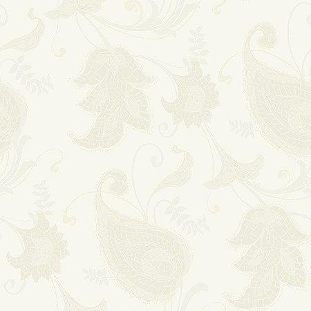Papel de Parede Vinílico - EPP III - Floral - creme