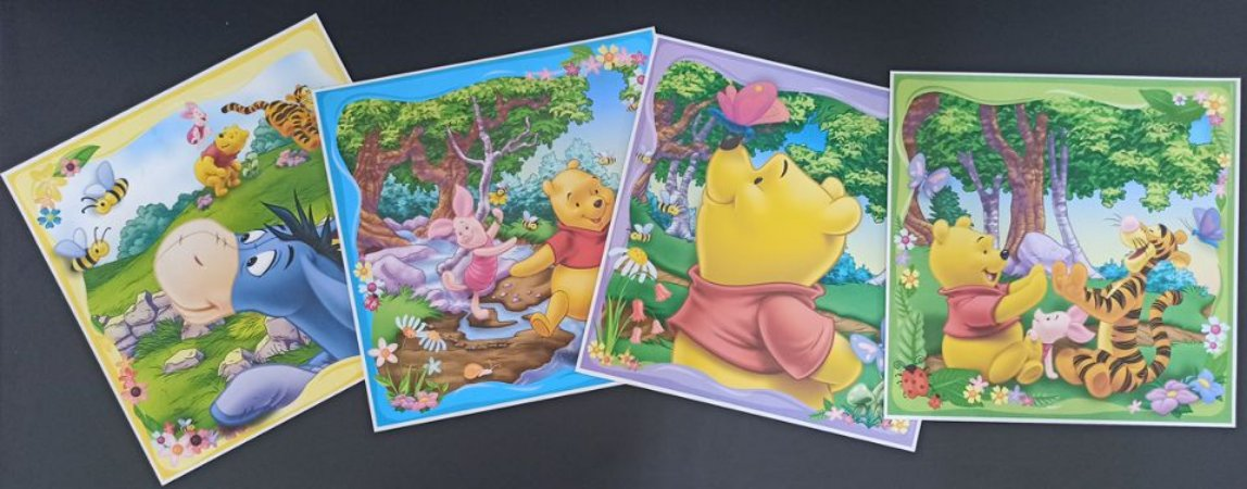 Quadro Adesivo Disney Turma do Pooh