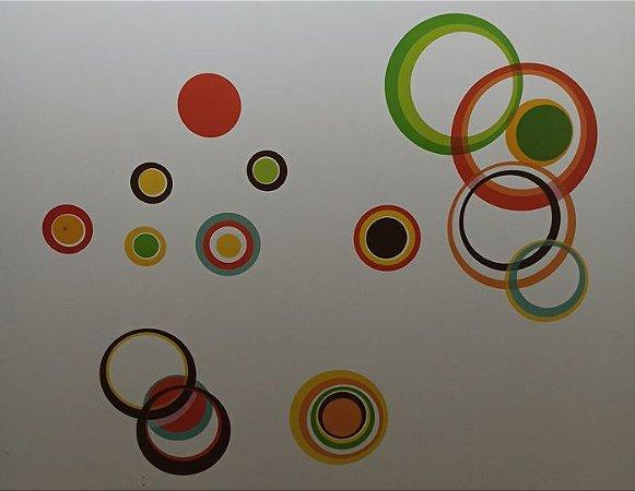 Adesivo Stickers Círculos Coloridos
