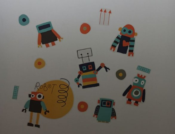 Adesivo Stickers Infantil Robôs