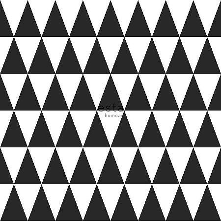 Papel de Parede Vinicilo - Geométrico - Branco e Preto