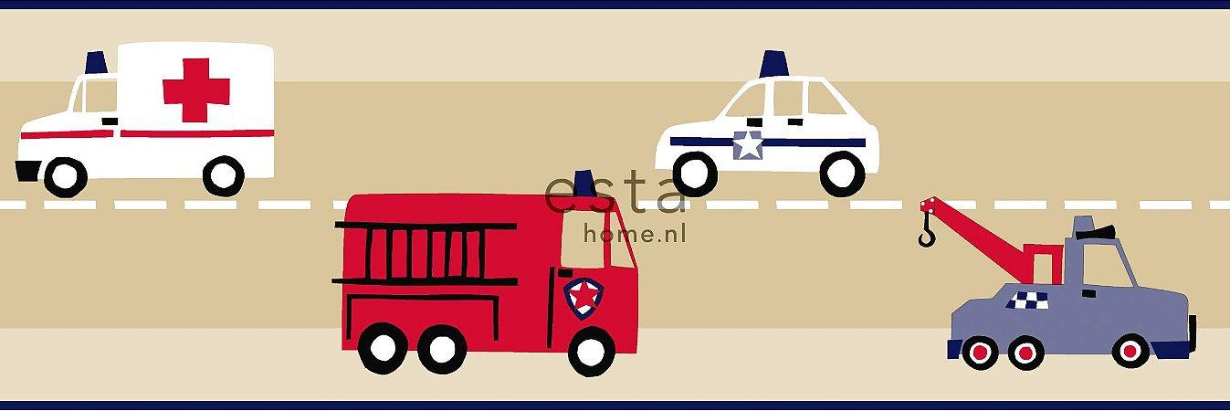 Faixa com 5m - Infantil (Bombeiro, Policia, Ambulância)