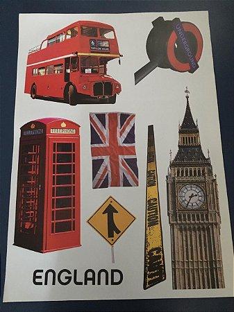 Adesivo Stickers  - England