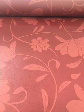 Papel de Parede Vinílico Floral Vermelho