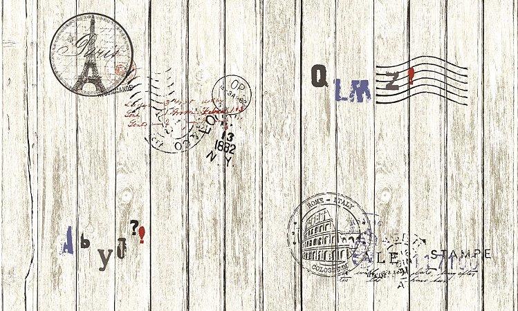 Papel de Parede Dream Word 87004-1 cartão postal 1,06 x 15 rendimento de 12 metros