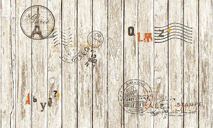 Papel de Parede Dream Word cartão postal 87004-2 1,06 x 15 rendimento de 12 metros