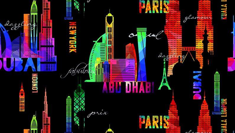 Papel de Parede Dream World Dubai 15 Metros
