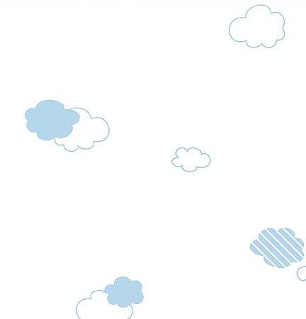 Papel de Parede Dream Word Infantil Nuvens - 1,06m x 15m