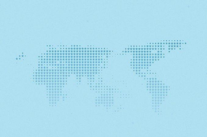 Papel de Parede Mapa Mundi Azul Piscina 15 Metros