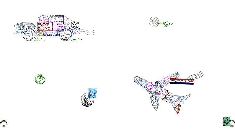 Papel de Parede Dream Word Cartão Postal Aviação - 1,06m x 15m